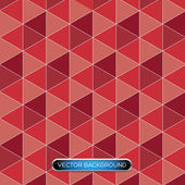 Seamless triangle pattern. Vector background red — Stock Vector