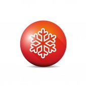 Vector snowflake circle — ストックベクタ
