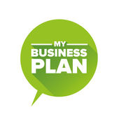 Meine Business-plan — Stockvektor