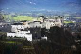 Aerial view of famous Hohensalzburg Fortress in Salzburg, Salzbu — Stock Photo