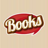 Books sign vector — ストックベクタ