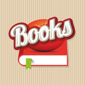 Books sign vector — Stock Vector