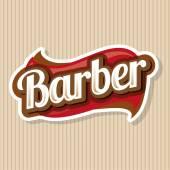 Vintage barber shop logo, label or badge — Stock Vector