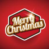 Merry Christmas label vector — Stock Vector