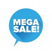 Mega sale label vector — Stock Vector