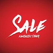 Sale brush lettering — Stock Vector