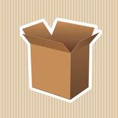 Paper brown box packaging vector — Stockvektor
