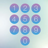 Colorful number set — Wektor stockowy