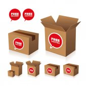 Free shipping and delivery set — Vettoriale Stock