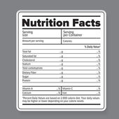 Nutrition facts — Stock Vector