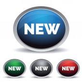 New button set — Stock Vector