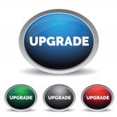 Upgrade button set — Stock Vector