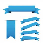 Blue ribbon vector set — Stock Vector