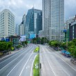 Bangkok city day time with main traffic high way — Stock Photo #51808535