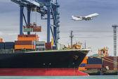 Container Cargo freight ship — Stock Photo