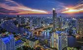 Bangkok City at night time — Stock Photo