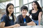 Asia students — Stock Photo