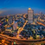 Landscape of River in Bangkok city — Stock Photo #57706565