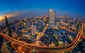 Landscape of River in Bangkok city — Stock Photo