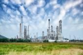 Oljeraffinaderi — Stockfoto
