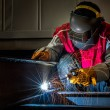 Worker work hard with welding process — Stock Photo #59355045