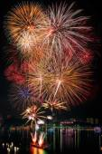 Fireworks new year 2014 - 2015 celebration  — Foto de Stock