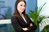 Businesswoman portrait in modern office — Stockfoto