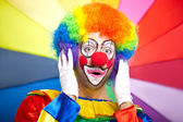 Scared clown portrait — Stock Photo