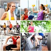 People working out and having fun — Stok fotoğraf
