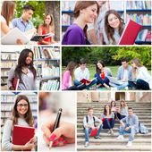 Young people studying — Foto Stock
