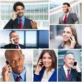 Business people talking on phone — Stock Photo