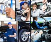 Car upkeep and safe driving concept — Stock Photo
