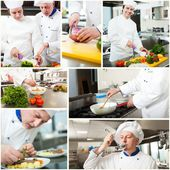 Professional chefs at work — Stock Photo
