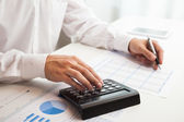 Accountant checking numbers — Foto de Stock