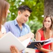 Students studying in park — Stock Photo #54326065
