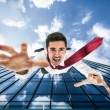 Man falling down from building — Stock Photo #54338881