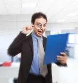 Shocked businessman — Stock Photo