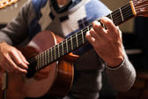 Classical guitar player — 图库照片