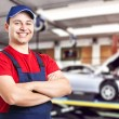 Friendly smiling mechanic — Stockfoto
