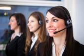 Customer representatives at work — Stock Photo
