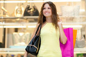 Woman shopping in city — Stock Photo