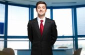 Businessman portrait in his office — Stock Photo