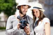 Turistler fotoğraf çekme — Stok fotoğraf