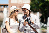 Tourists taking pictures — Stock Photo