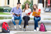 Group of students outdoor — Stock Photo