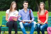 Grupo de alunos ao ar livre — Foto Stock