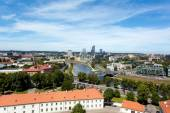 Vilnius with Financial District Snipiskes — Stockfoto