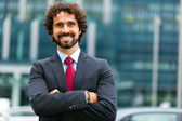 Handsome male manager outdoor — Foto de Stock