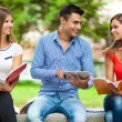 Happy students studying outdoor — Stock Photo #55481217