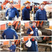 Worker in constuction site — Stock Photo